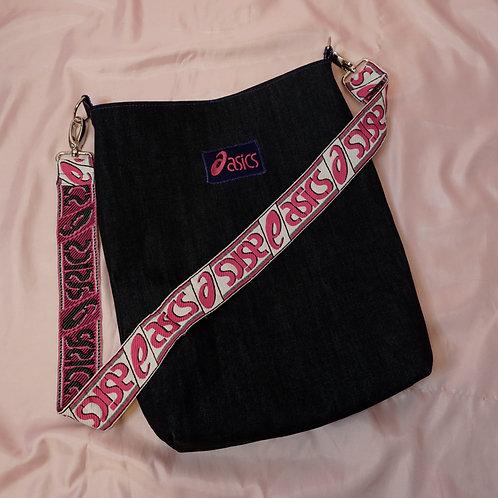 Handmade Up-cycled Denim ASICS Bucket Shoulder Bag