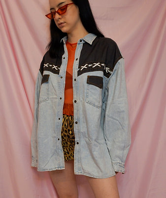 Light Wash Vintage Denim Shirt