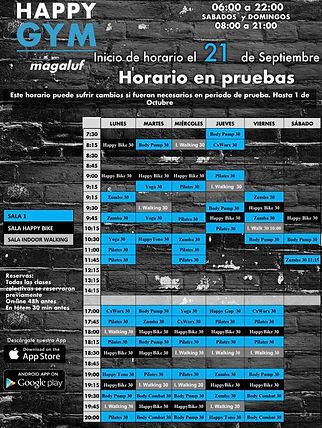 21 septiembre HORARIOS DE CLASES  MAGALU
