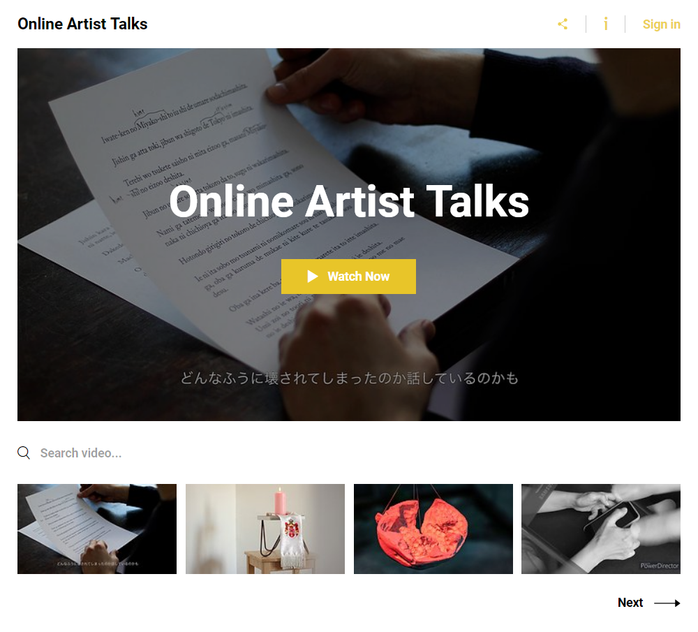 Online Art Talks by Artists at Temporary Space Berlin