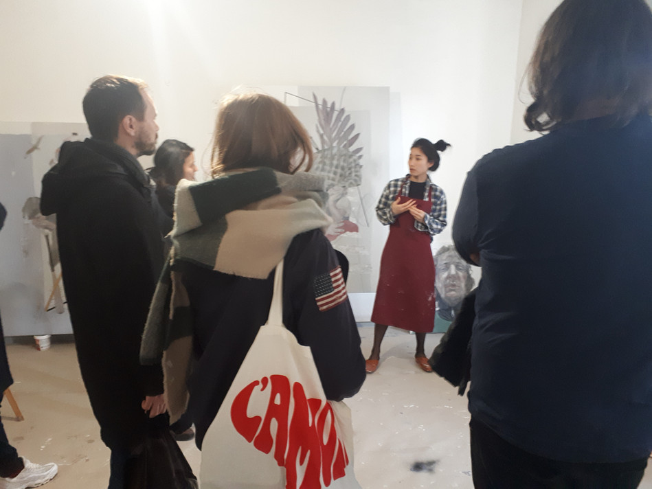 Studio visit of Jiyeon Kim
