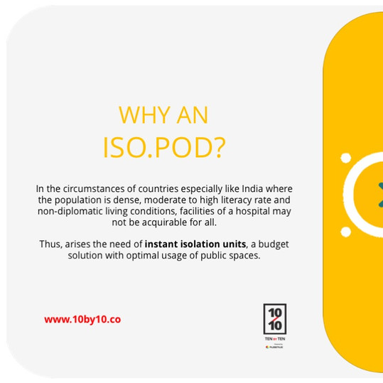 Why an ISO.POD?
