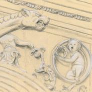 La gargouille du chevet Renaissance de l'église Saint-Pierre