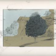 Le rempart sud-ouest du château