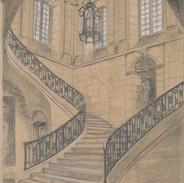 L'escalier d'honneur de l'Abbaye aux Dames