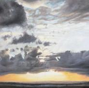 Soleil levant sur la plaine