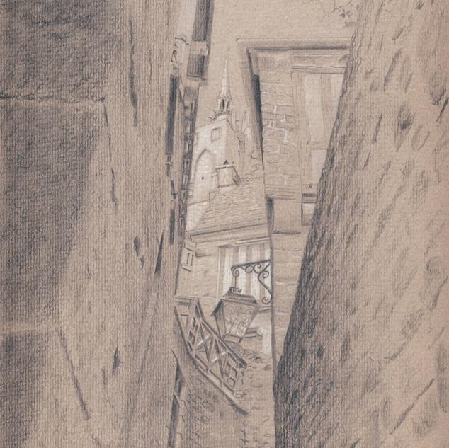 Les ruelles du Mont Saint-Michel
