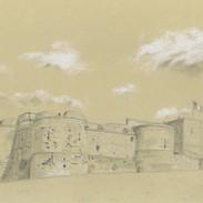 Le rempart sud du château