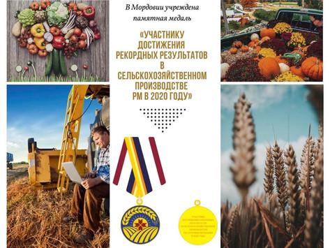 В Мордовии учреждена памятная медаль за достижение рекордных результатов
