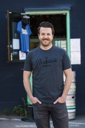 The Parkside Brewery - Charcoal Grey Main Logo Tee