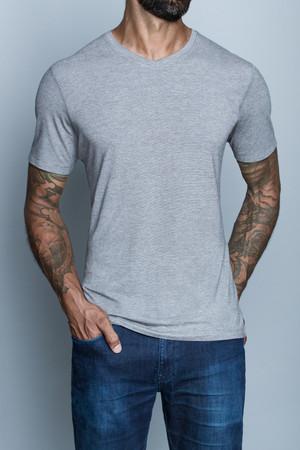 Navas Lab - Drake V2 Micro Stripe V-Neck T-Shirt