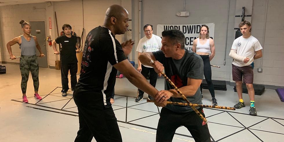 Kali stick and knife Training