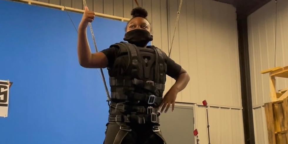 Kids stunt training