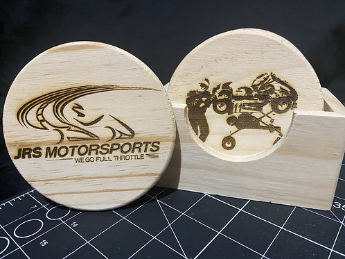 Custom Coaster Set (6 coasters plus holder)