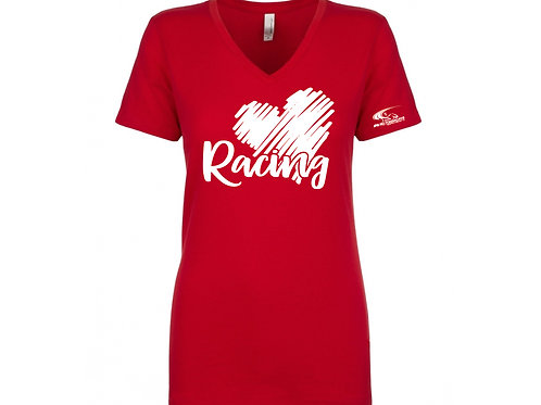 Womens Shirt. Love Racing. Available in various types and sizes.