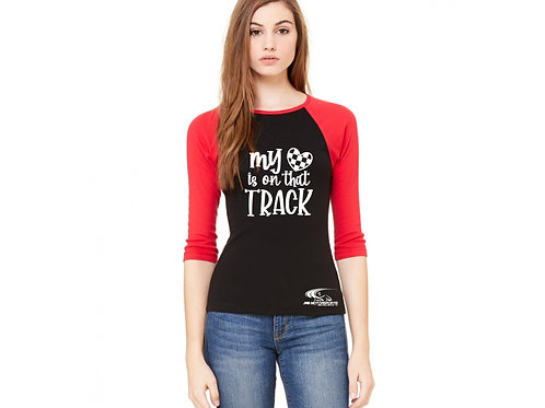 Womens 3/4 Sleeve Raglan Tee