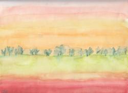 Landschaft in rot; 1990; Aquarell; imachd._edited