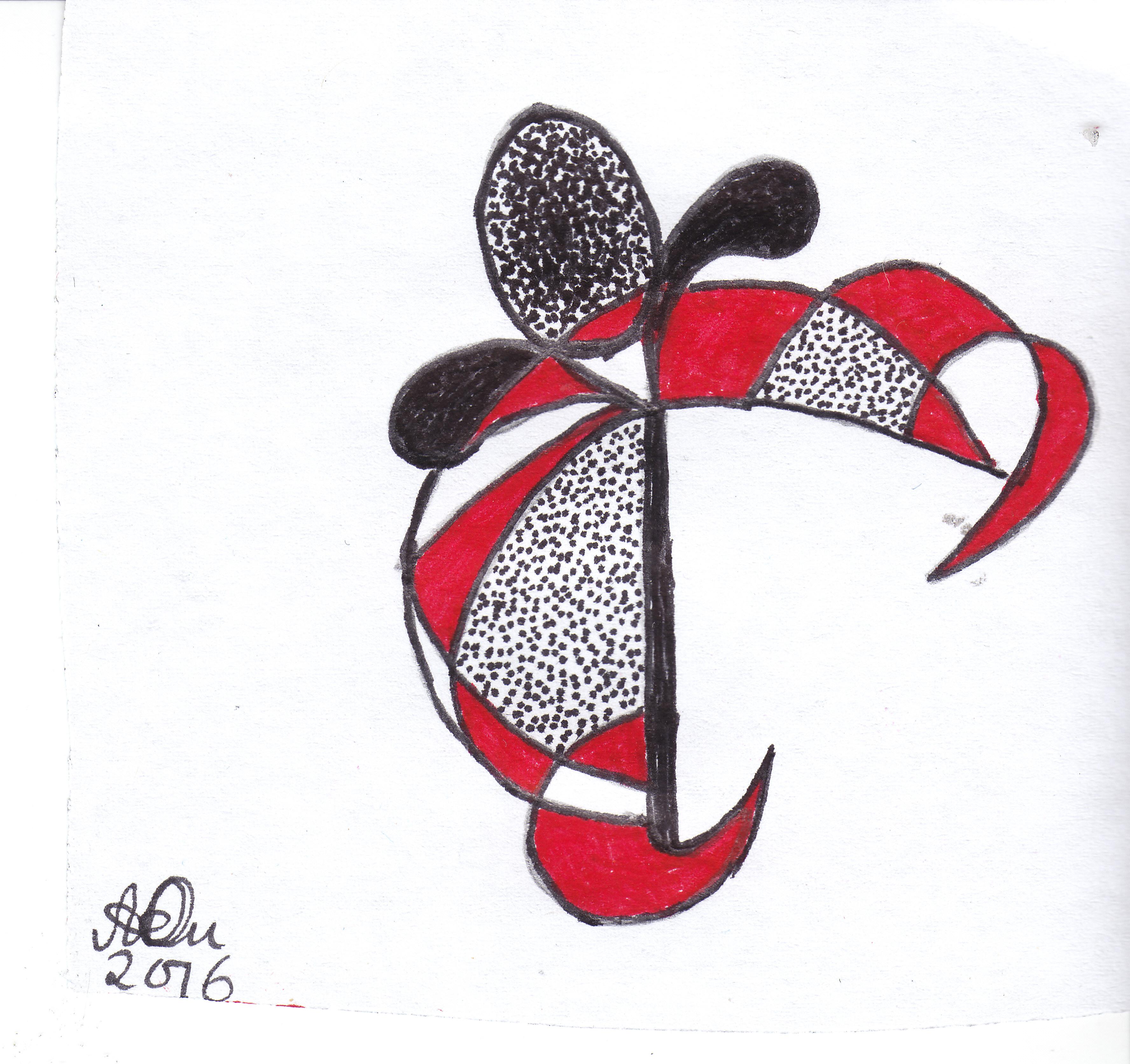 Emblem 1; 2016; Filzstift; imachd.