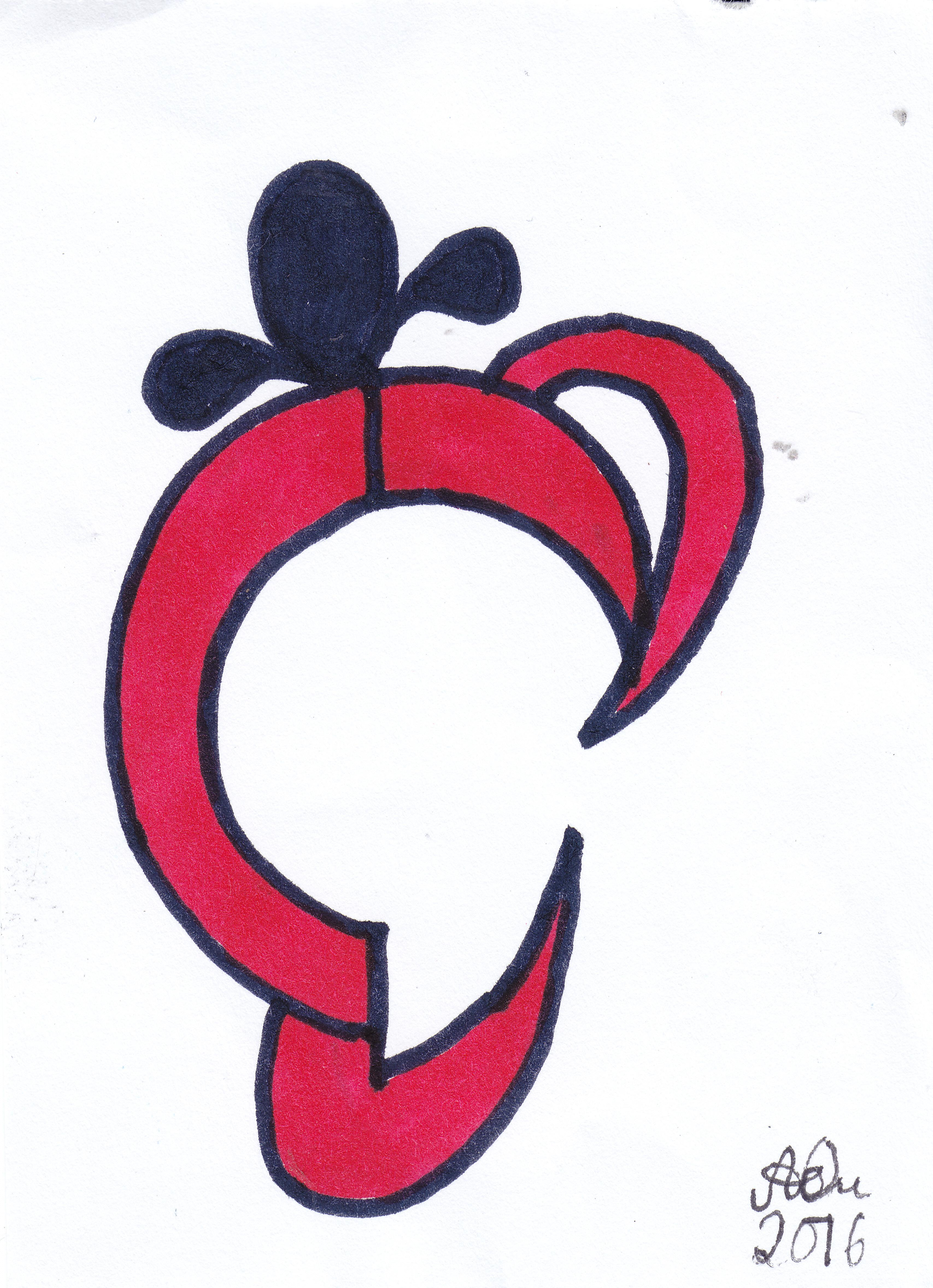 Emblem 3; 2016; Filzstift; imachd.