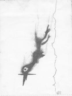 Vogel mit Beute; 1999; Graphit; imachd.