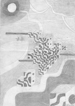 Schubladen; 1992; Graphit; imachd.
