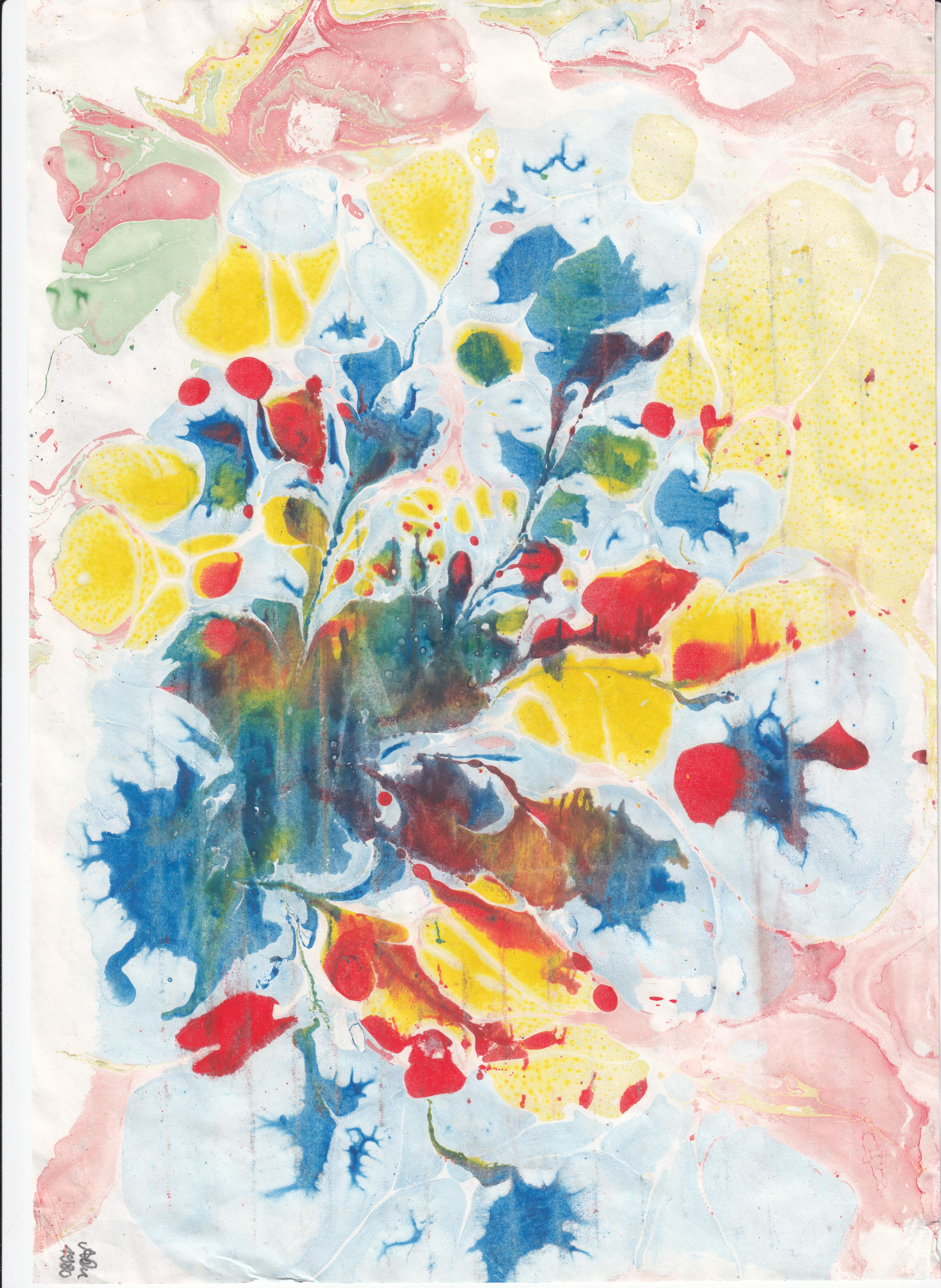 Blumenkreation 2; Wasserfarben; 1980; imachd.