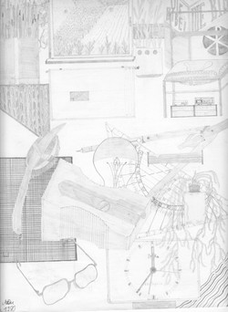 Mein Zimmer; Bleistift H; 1980; imachd.