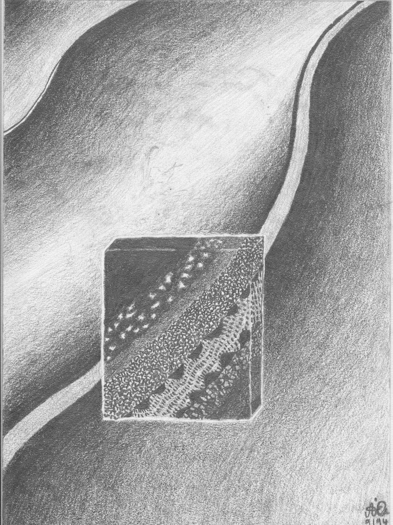 Block ohne Rahmen; 1994; Graphit; imachd.