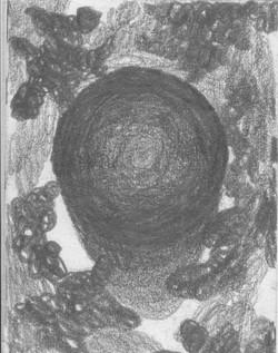 Schornstein in den Wolken; 1983; Graphit; imachd.