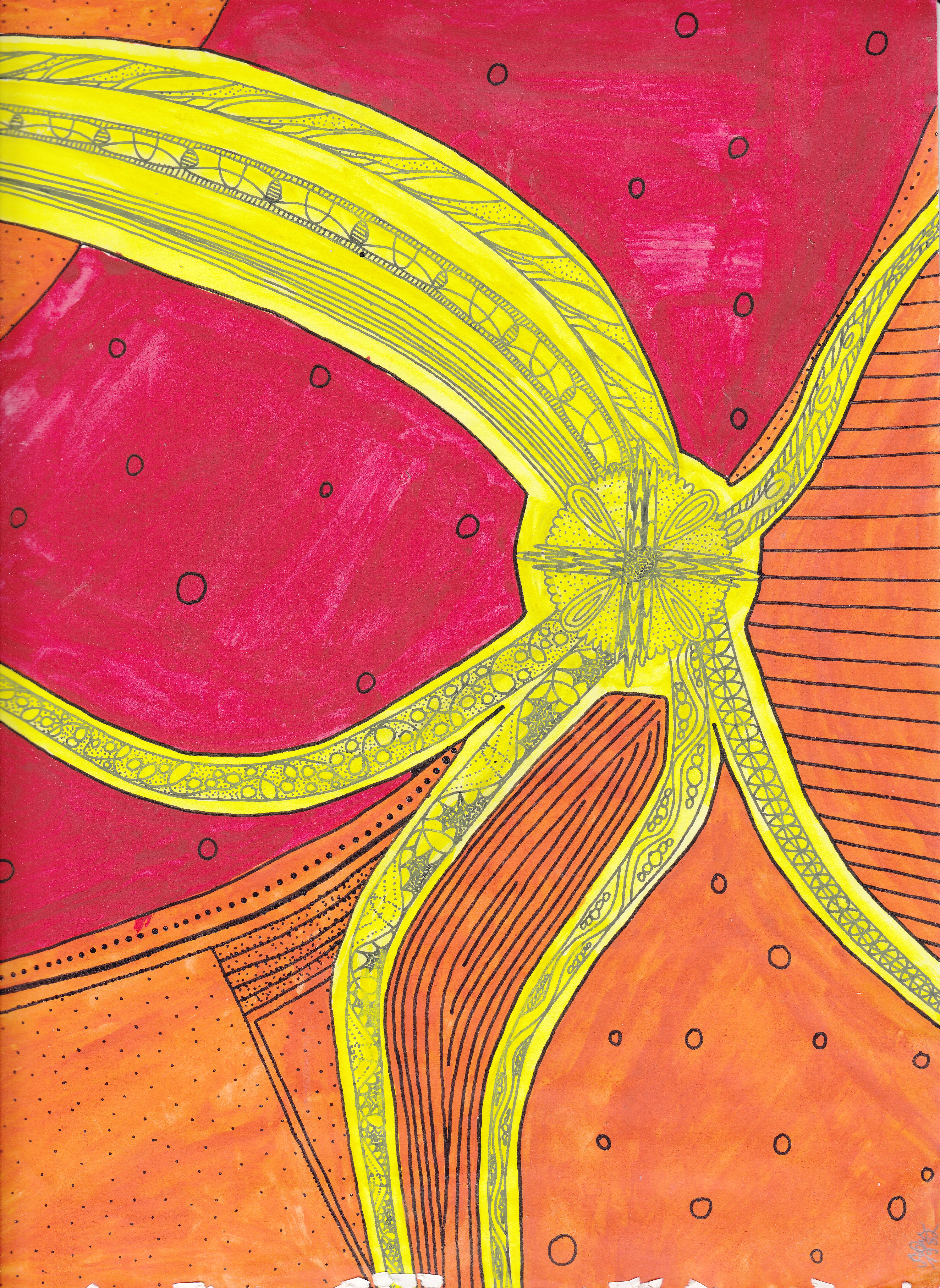 Krakenmuster 3; Tusche, Wasserfarben; 1981; imachd.