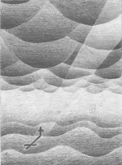 Im Focus das Kreuz; 1995; Graphit; imach