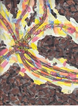 Krakenmuster 1; Tusche, Wasserfarben; 1981; imachd.