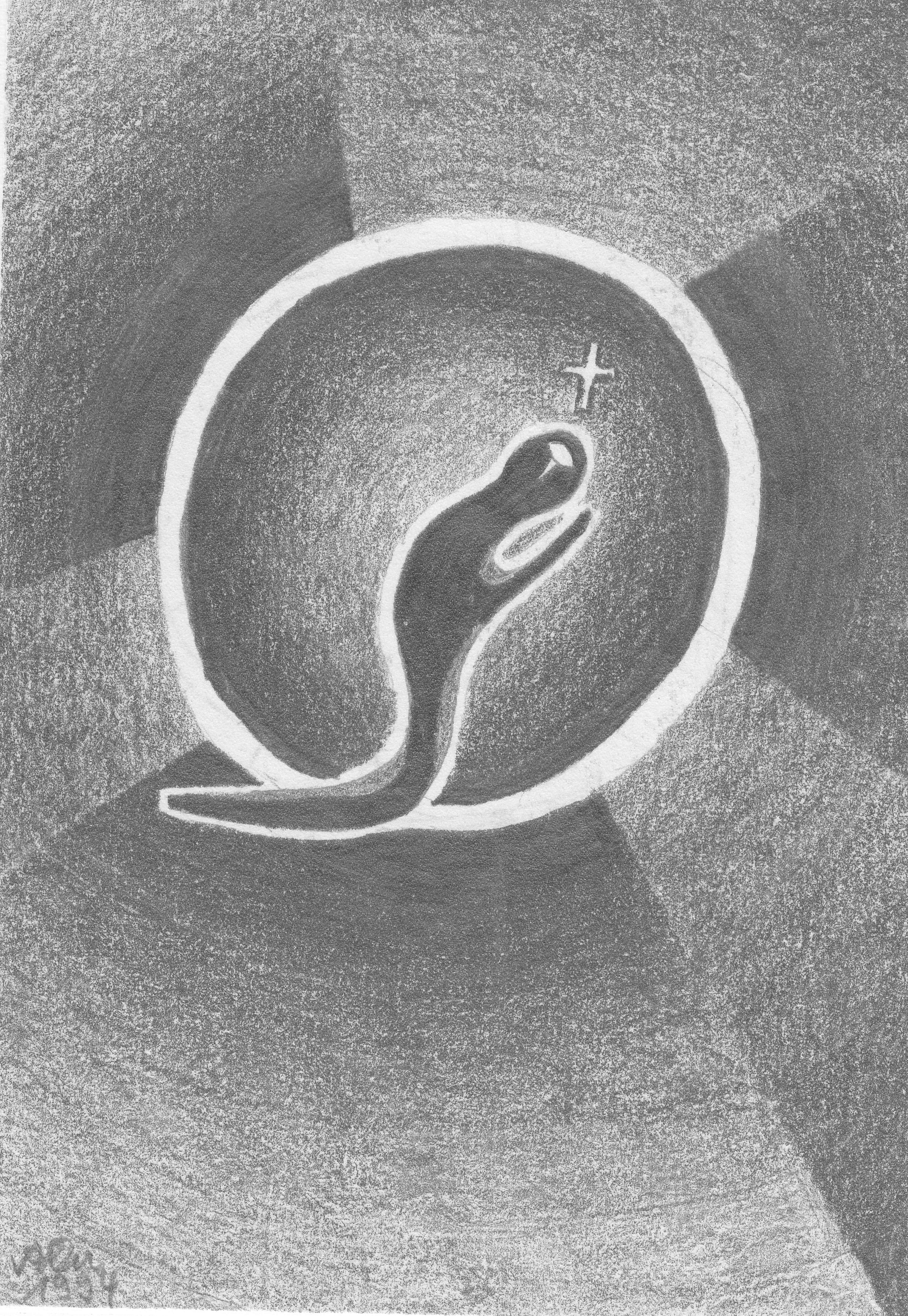 Meditation 1; 1994; Graphit; imachd.