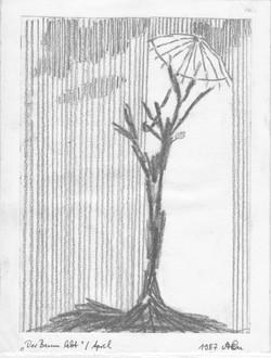 Der Baum lebt noch; 1987; Graphit; imachd.
