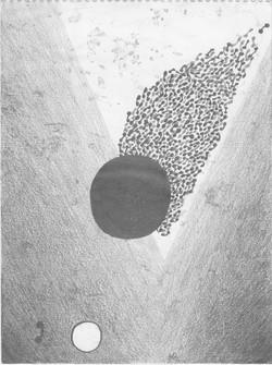 Kometenschwarm; 1994; Graphit; imachd.