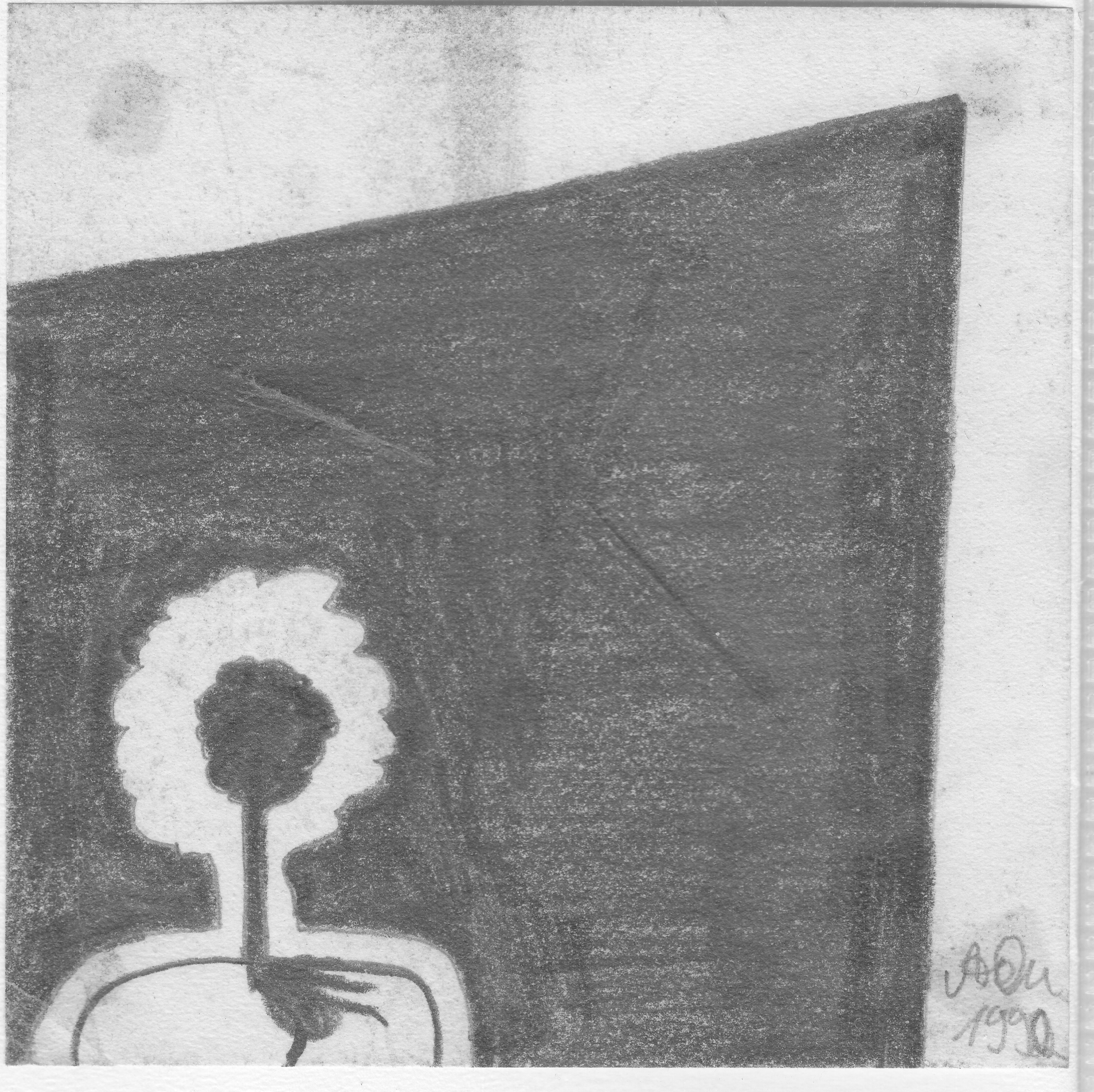 Kopf und Herz; 1992; Graphit; imachd.
