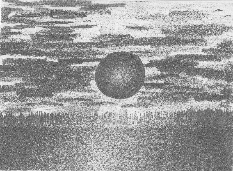 Planetenaufgang; 1991; Graphit; imachd._edited