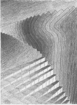 Spiel mit den Dimensionen; 1989; Graphit; imachd.