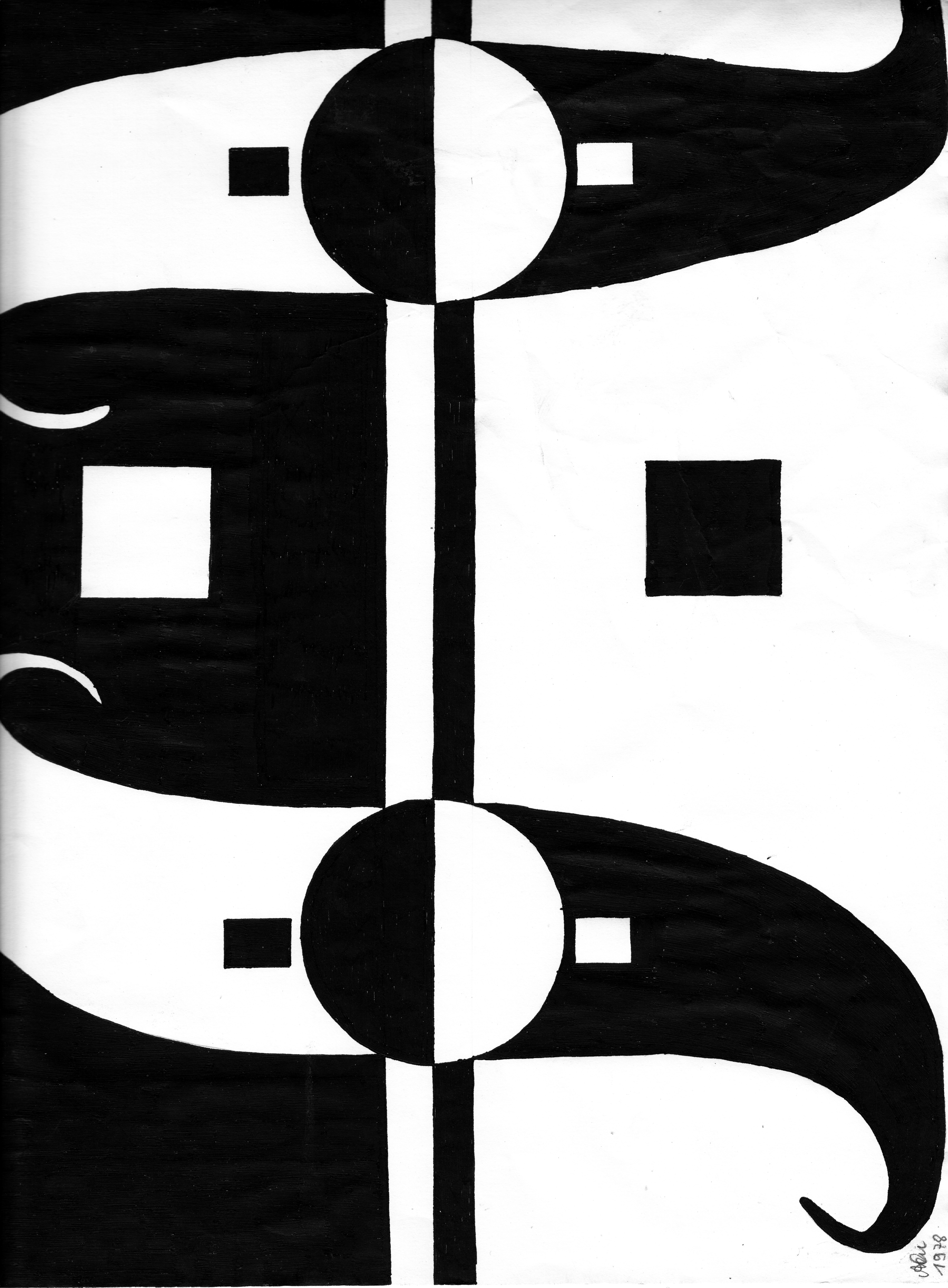 Bild 1; 1978; Filzstift; imachd.