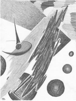 Phantasiewelt; Bleistift; 1981; imachd.
