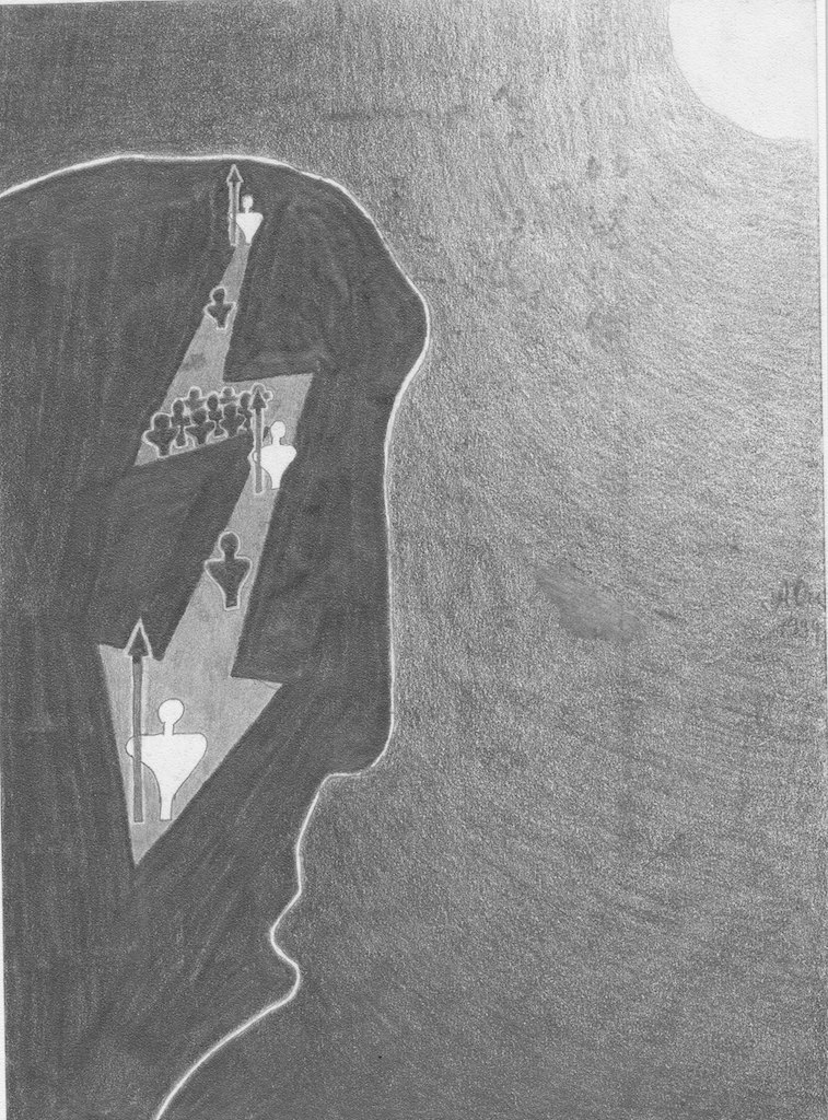 Kontrolliere Deine Gedanken; 1994;Graphit; imachd.