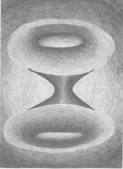 Fremdartige Kubistik 2; 1992; Graphit; imachd.