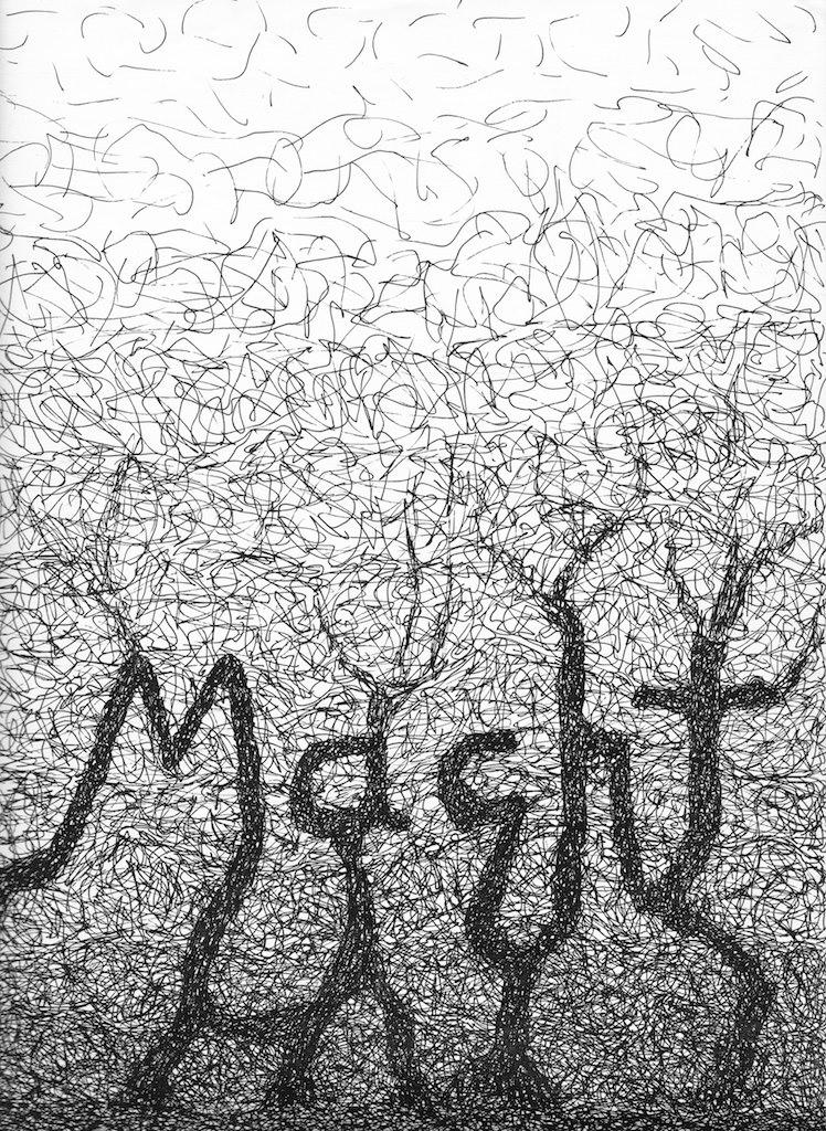 Macht; Tusche; 1982; imachd.