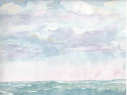 Meereshorizont; Aquarell; 1981; imachd.