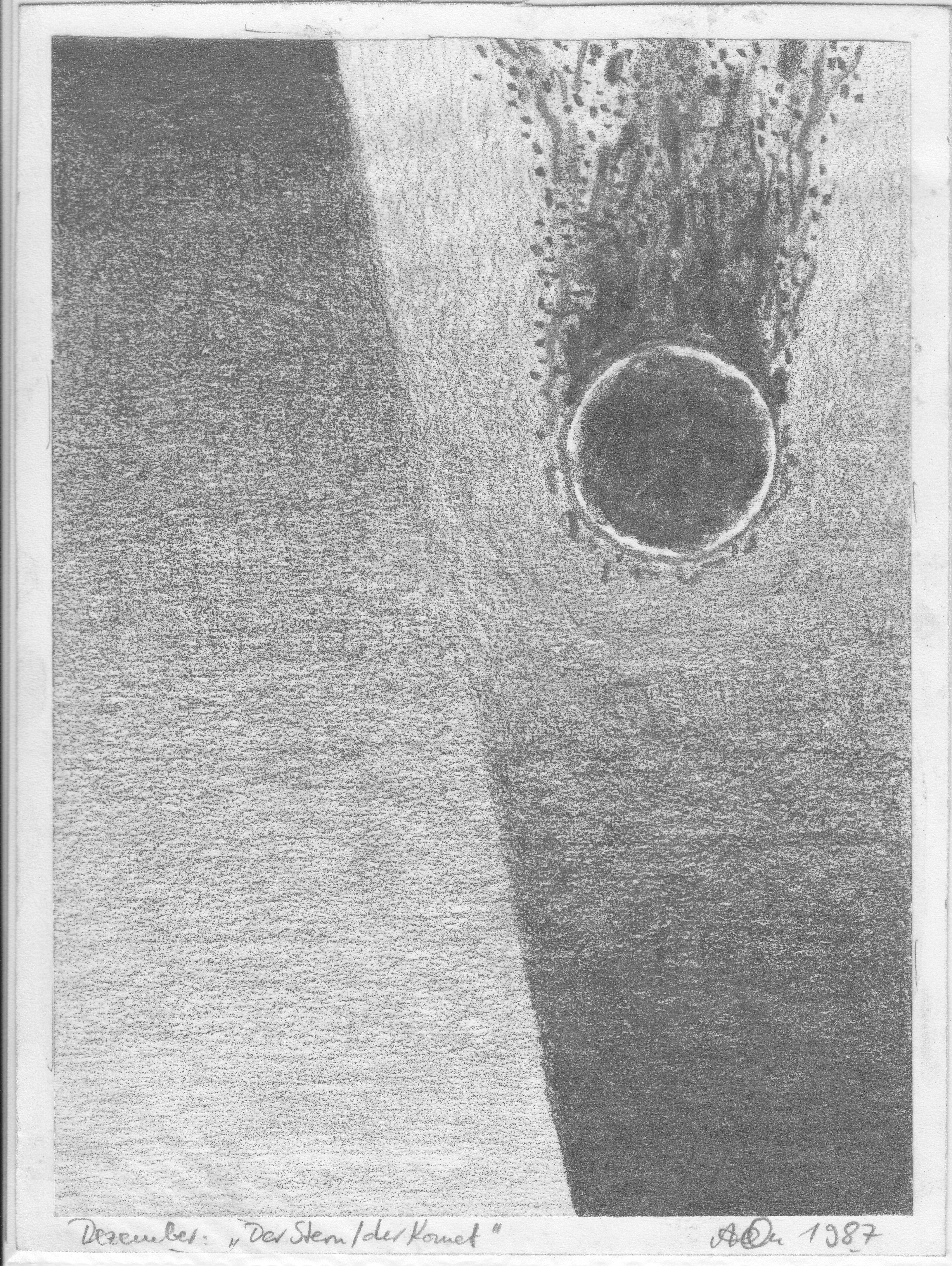 Der Komet; 1987; Graphit; imachd.