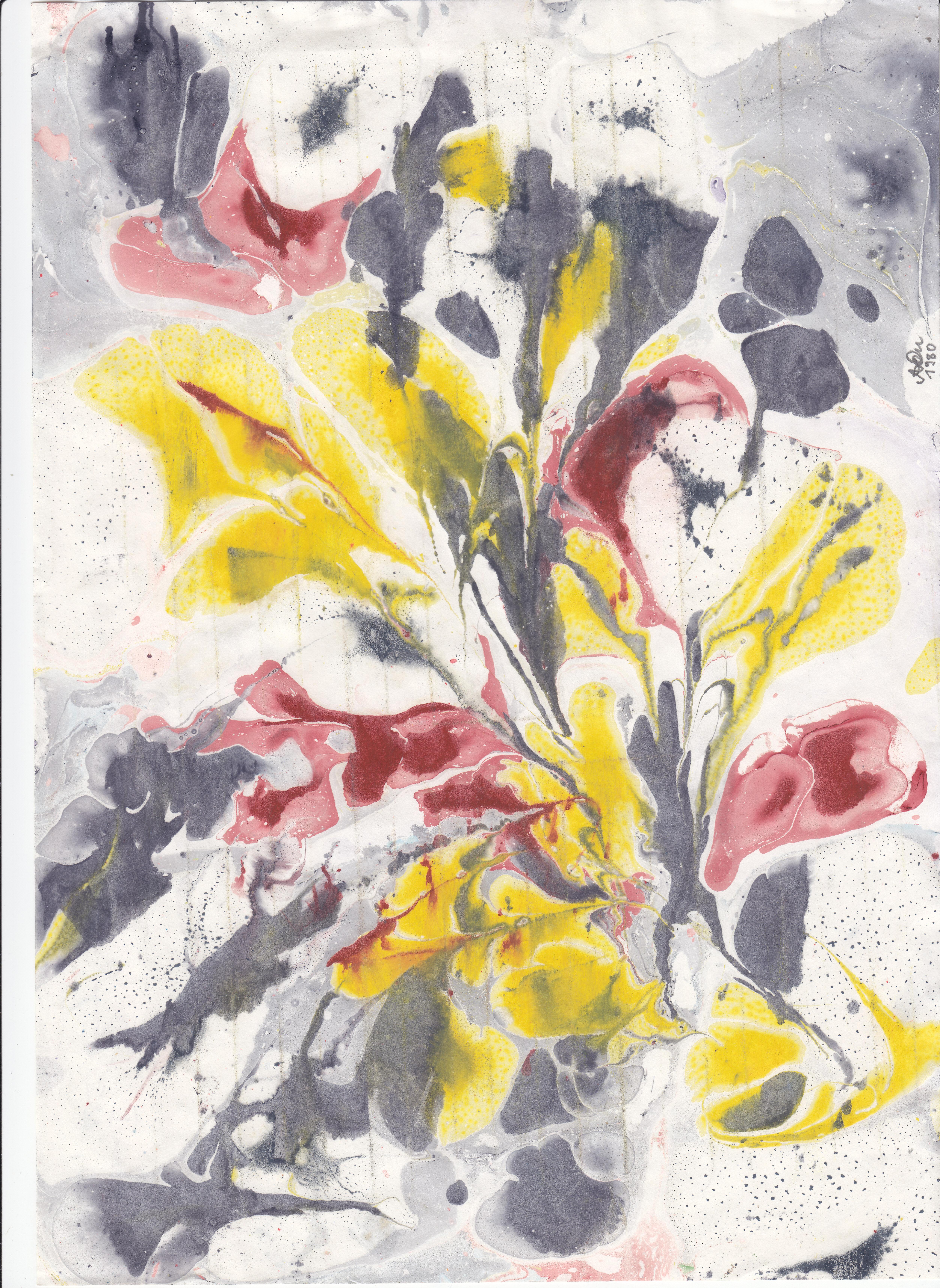 Blumenkreation 1;  Wasserfarben; 1981; imachd.