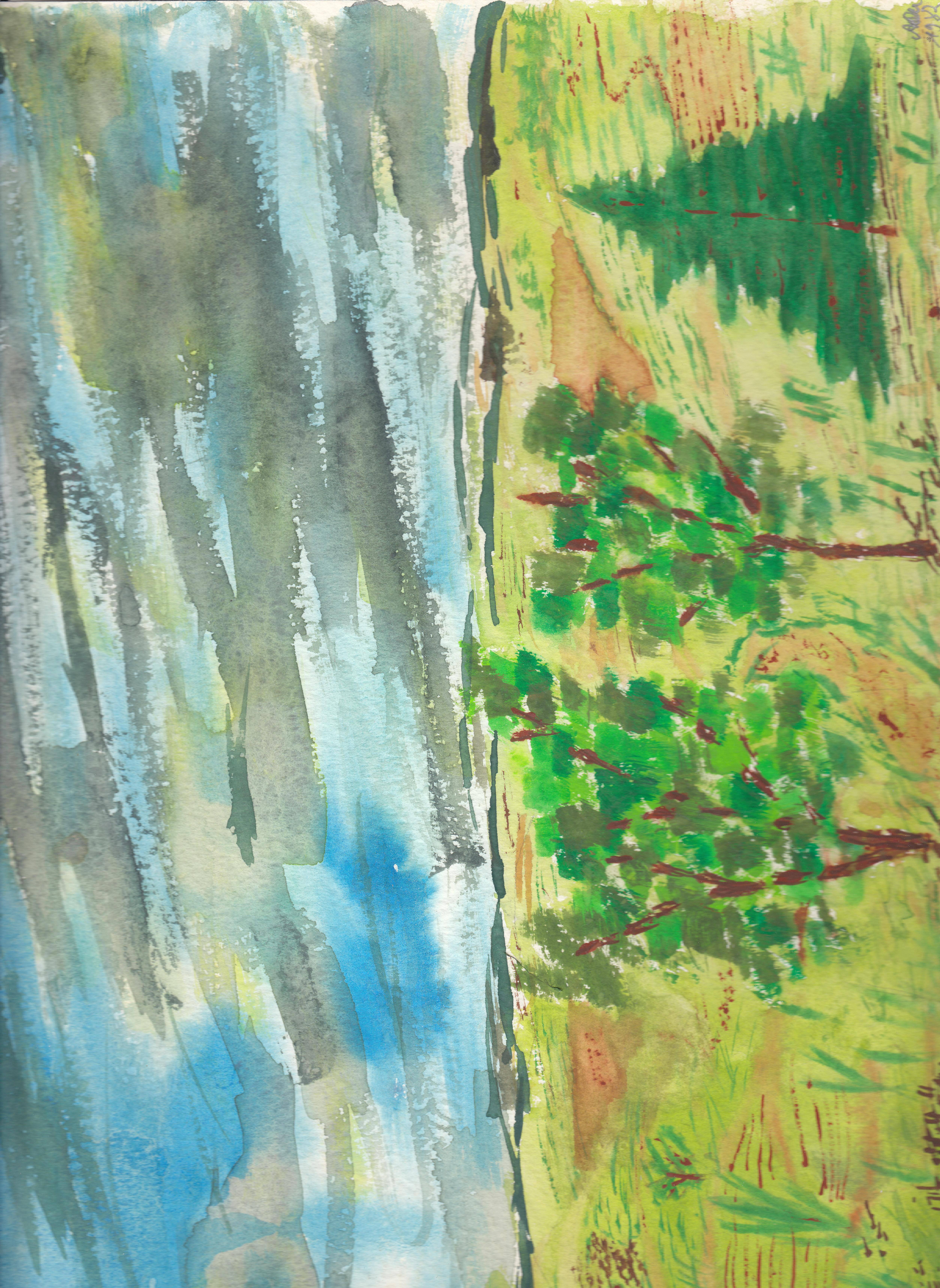 Landschaft 2; Aquarell; 1982; imachd.