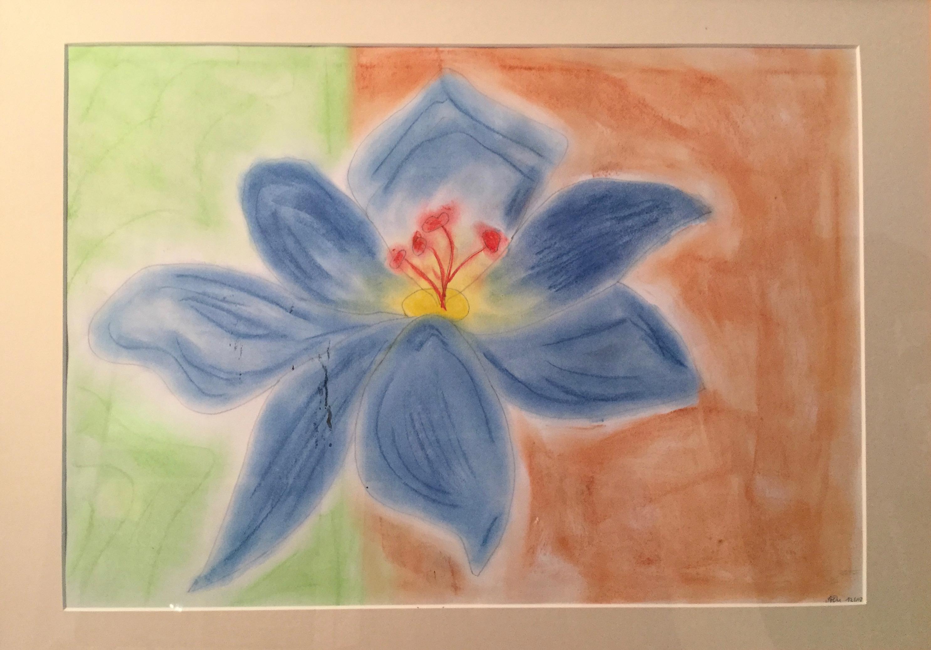 Blüte, Pastellkreide, 2008, imachd.
