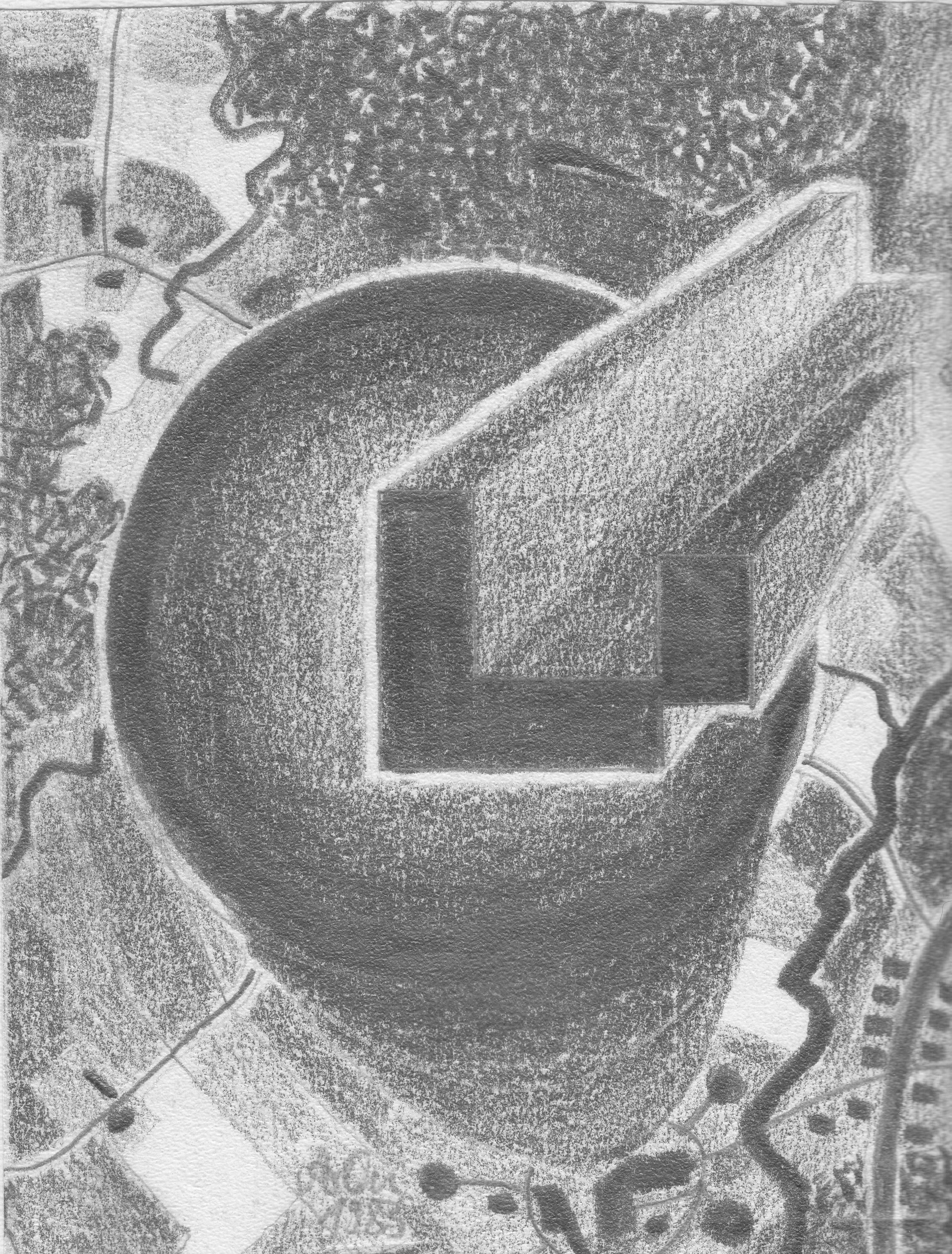 Schornstein mit Plastik; 1983; Graphit; imachd.