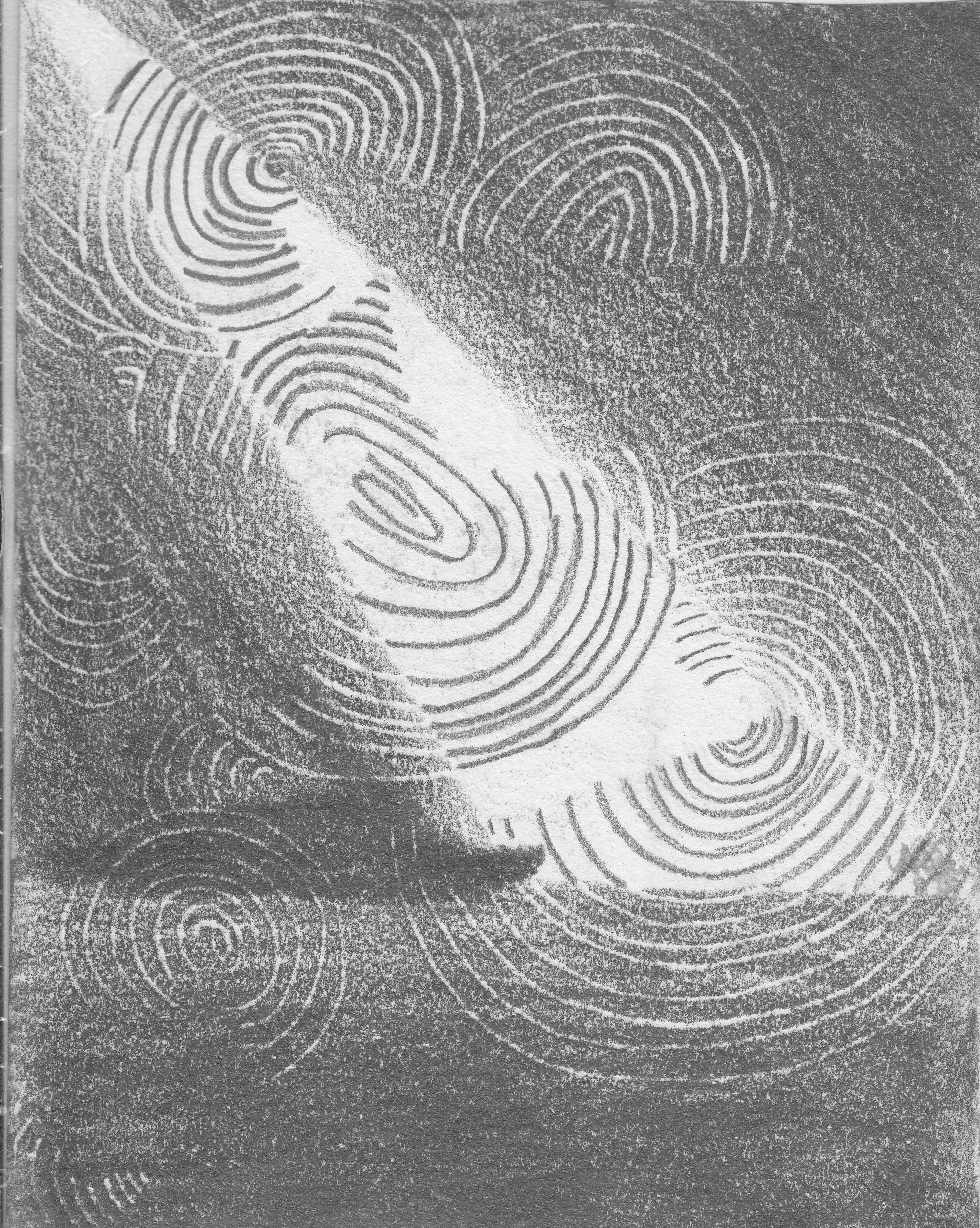 Echolot und Radar; 1988; Graphit; imachd.